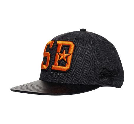כובע לגברים אפור SUPERDRY Super Harlem Baseball