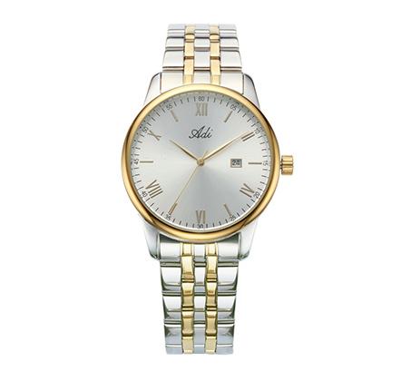 שעון יד אלגנטי לגבר ADI - כסוף/מוזהב