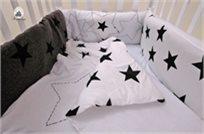 סט מצעים 3 חלקים למיטת תינוק 100% כותנה - כוכב
