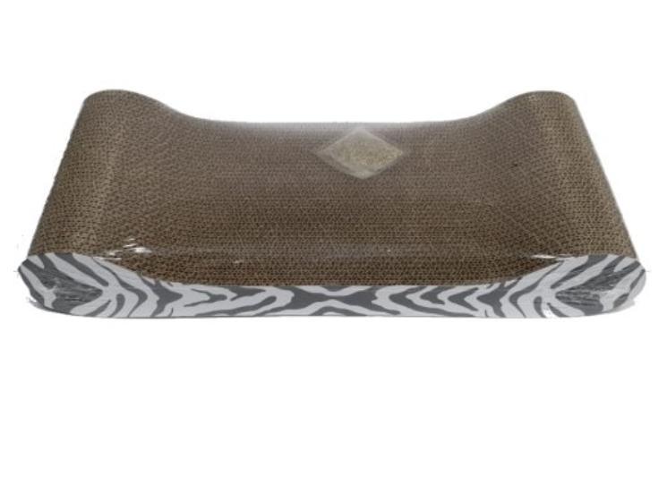 משטח גירוד זברה בצורת ספה
