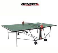 שולחן טניס תוצרת גרמניה לשימוש פנים מבית GENERAL FITNESS כולל רשת קבועה + מתנה