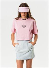 Afends נשים // Ana Rita Box Fit Tee Pink
