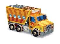 פאזל רכבים 48 - משאית זבל