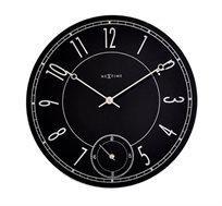 שעון קיר עשוי זכוכית עם שעון שניות דגם לייטברינג