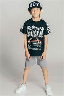 חליפת פרנץ' טרי Kiwi לילדים בצבע שחור