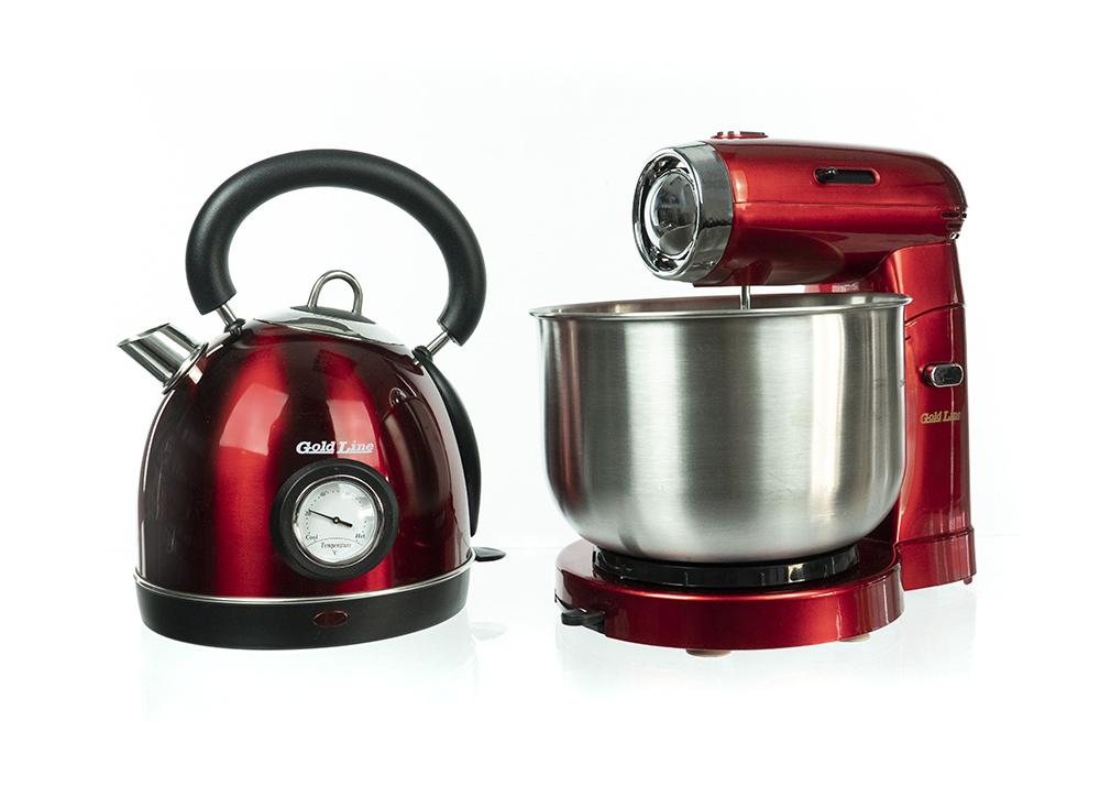 סט למטבח GOLDLINE בעיצוב רטרו הכולל מיקסר עצמתי וקומקום בנפח 1.8 ליטר RETRO MIX זמין ב 3 צבעים - משלוח חינם - תמונה 3