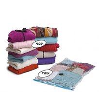 שקיות וואקום Roll Up לאחסון בגדים ללא צורך בשואב