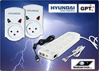 לחורף בטוח! מגוון מגני ברקים משוכללים תוצרת HYUNDAI להגנה על מכשירי החשמל, החל מ-₪49 לזוג מגינים!