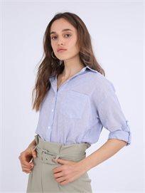 חולצה מכופתרת דילן כחול סטייל ריבר
