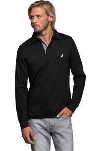 חולצת פולו ארוכה Nautica לגברים דגם 73967K0TB בצבע שחור