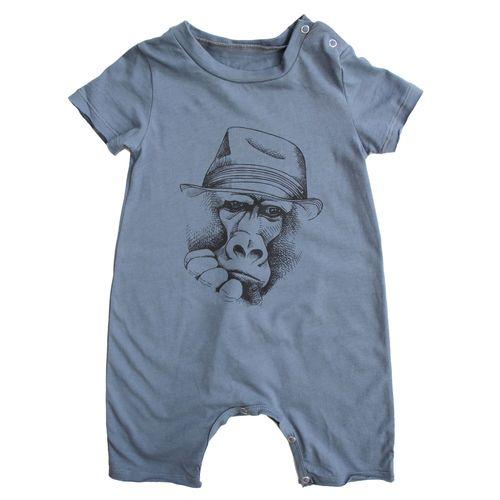 אוברול No Biggie לתינוקות (מידות 0-24 חודשים) כחול