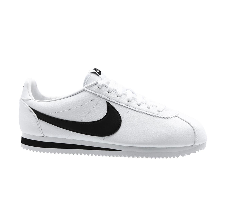 נעלי ספורט לגבר נייק דגם CORTEZ LEATHER 749571-100 - לבן/שחור