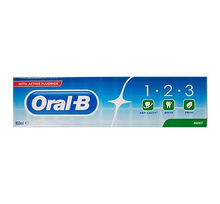 """10 יח' משחת שיניים אורל בי With Active Fluoride מנטה 100 מ""""ל"""