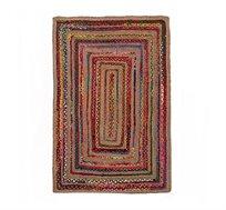 """שטיח יוטה כותנה צבעוני בעבודת יד בגודל 60X90 ס""""מ Ginger"""