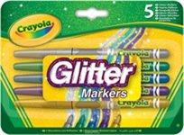 ערכה 5 טושים עם נצנצים Crayola