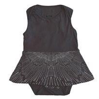 שמלה No Biggie לתינוקות (מידות 0-24 חודשים) אפור