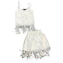 ORO חליפת תחרה (8-2 שנים) -  לבן