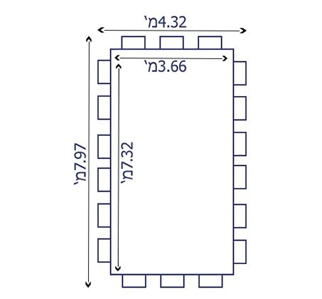 בריכה אולטרה מלבנית במידות 732X366X132 ס