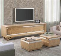 מערכת לסלון הכוללת סט מזנון ושני שולחנות דגם פורסט