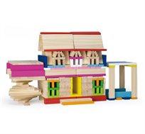 מארז קוביות משחק לילדים מעץ דגם קפלה הכולל 250 חלקים בעל 10 צבעים שונים PITOYS