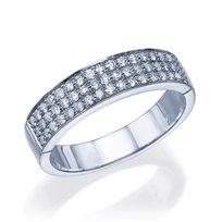 """טבעת יהלומים """"ריימונד"""" 0.50 קראט זהב לבן"""