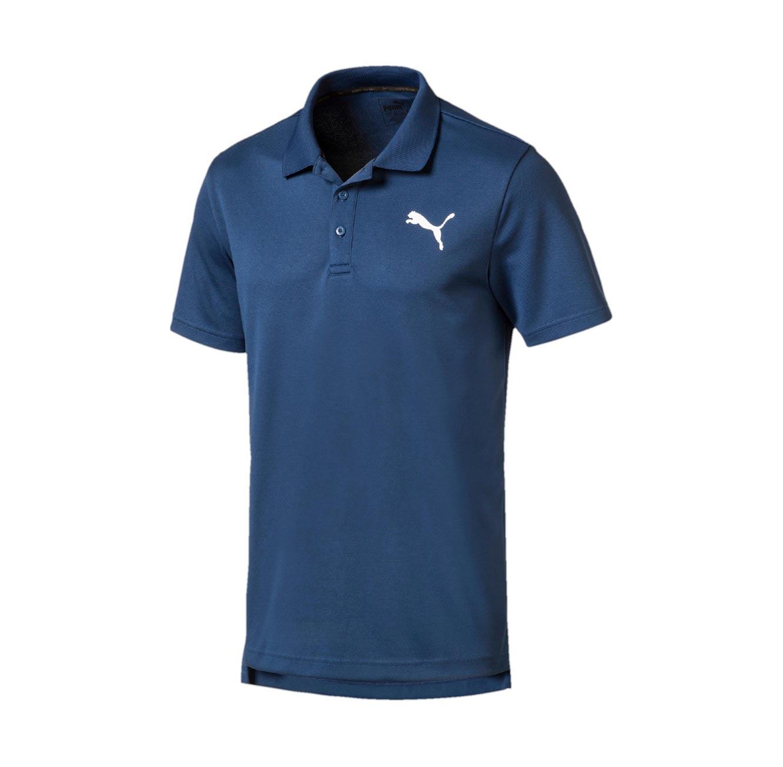 חולצת פולו פיקה קצרה לגברים PUMA ACTIVE Pique Polo - כחול