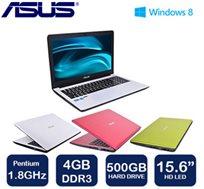 """נייד """"15.6 מבית Asus מעוצב, קל משקל, דיסק קשיח 500GB ו-WIN8"""
