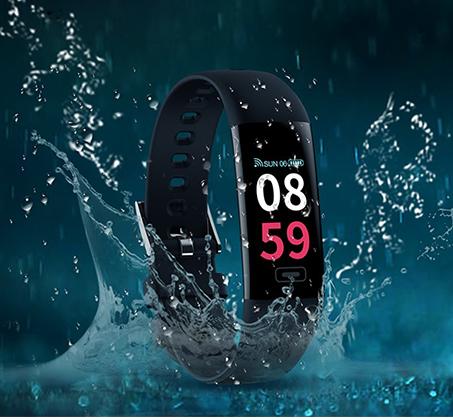 שעון ספורט VISIONTEK כולל מסך OLED מד דופק ומד לחץ דם מובנים מד צעדים מדידת מרחק וקלוריות - תמונה 2