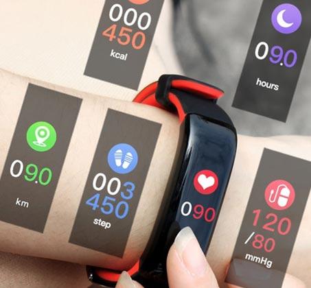 שעון ספורט VISIONTEK כולל מסך OLED מד דופק ומד לחץ דם מובנים מד צעדים מדידת מרחק וקלוריות - תמונה 3