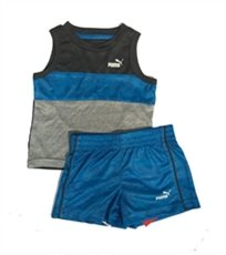 PUMA /חליפה (9-0 חודשים)- חליפת גופיה