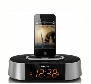 רדיו שעון משולב בתחנת עגינה ל IPHONE מבית PHILIPS