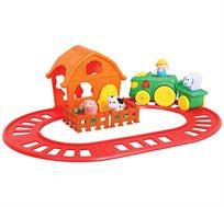 משחק רכבת וחווה מוזיקלי