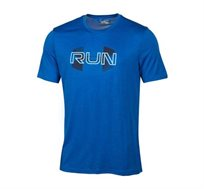 חולצת ריצה לגבר UNDER ARMOUR Run Overlap בצבע כחול