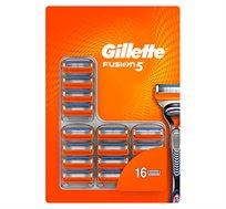 מארז סכיני גילוח Gillette Fusion בעלת 5 להבים ו-16 סכינים