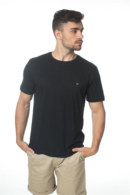 Ck גברים // טי - שרט שחורה בייסיק