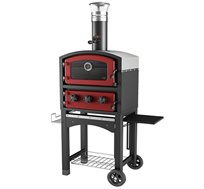 תנור טאבון Fornetto לשימוש כתנור ומעשנת כולל כיסוי מתנה