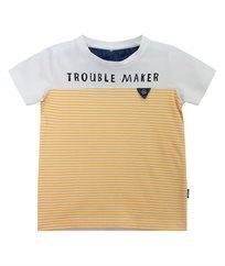 חולצת סינגל ליקרה בשילוב פסים