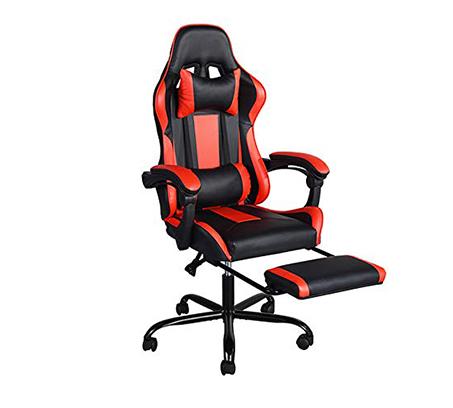 כיסא גיימר בעיצוב ארגונומי נפתח למצב שכיבה וריפוד דמוי עור דגם בליס HOMAX - תמונה 2