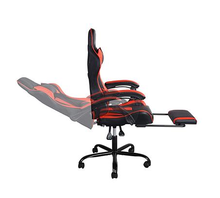 כיסא גיימר בעיצוב ארגונומי נפתח למצב שכיבה וריפוד דמוי עור דגם בליס HOMAX - תמונה 3