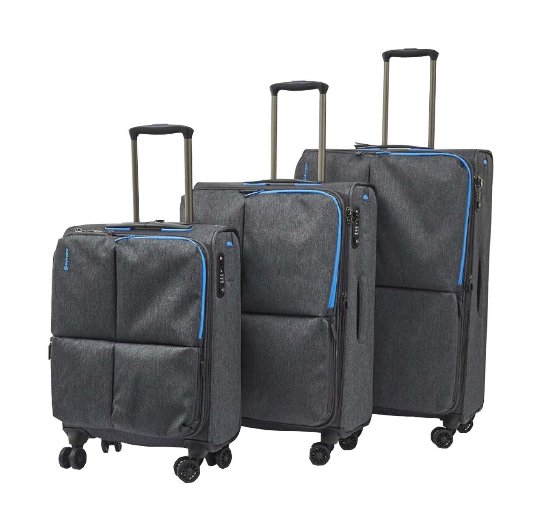 סט מזוודות ECHOLAC MUSE  בצבע אפור בהיר או כהה - משלוח חינם - תמונה 3
