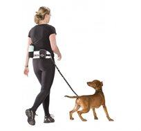 """פאוץ' ספורט אקטיב להליכה עם רצועה לכלבים עד 20 ק""""ג כולל כיסים לבקבוק, טלפון נייד, ארנק ועוד"""