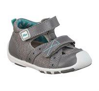 נעלי פעוטות צעד ראשון Papaya דגם לורי תפרים בצבע אפור