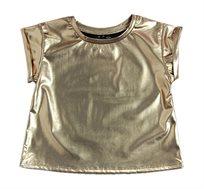 חולצה זוהרת לילדות - זהב