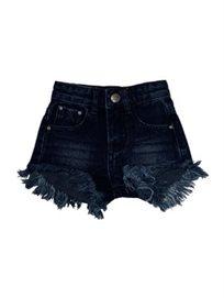 שורט Oro לילדות (מידות 2-18 שנים) ג'ינס כחול נייבי