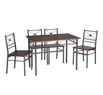 פינת אוכל הכוללת שולחן 4 כיסאות Homax דגם דוידסון