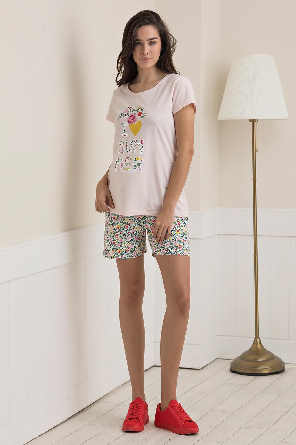 פיג'מת הדפס אוהבת קיץ SLEEP EXPOSE לאישה - צבע לבחירה