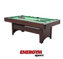 שולחן ביליארד דגם B9170 בגודל 7 פיט מתצוגה, כולל מקלות וכדורים מקצועיים מבית Energym Sport