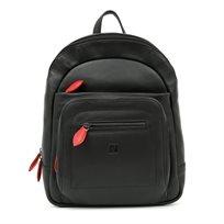 Valentini - תיק גב עור 71593 בצבע שחוראדום