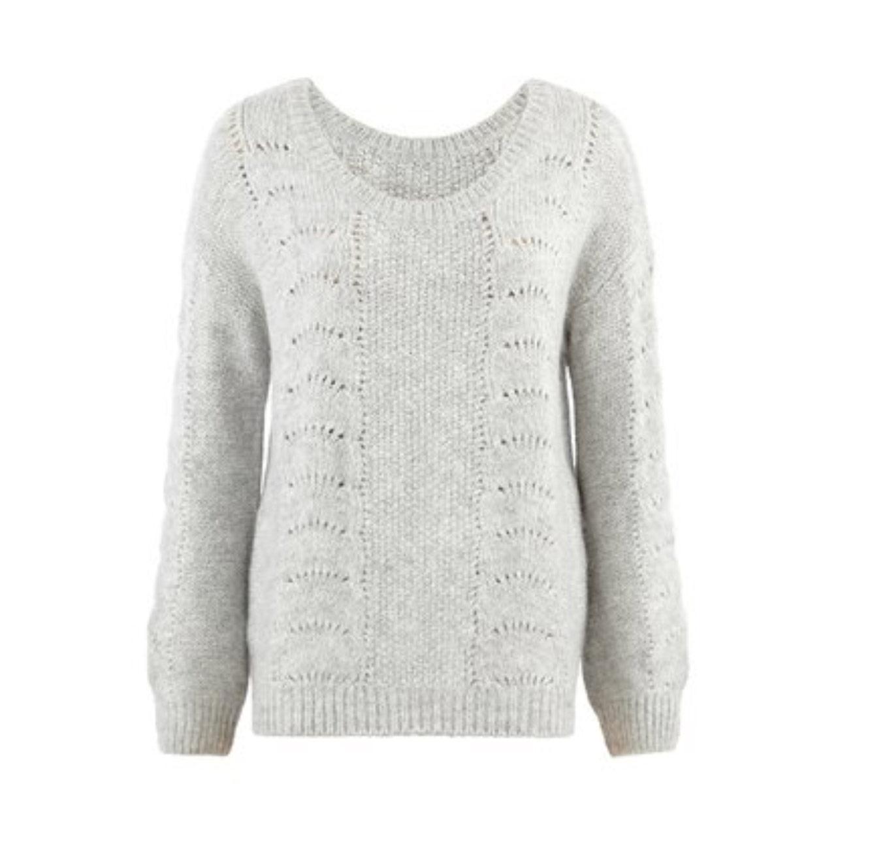 סוודר חורפי ואופנתי PROMOD לנשים - אפור בהיר