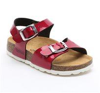סנדל לילדות YOOKIDS דגם KIWI בצבע אדום דובדבן